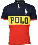 POLO RALPH LAUREN Men's Classic Fit Big Pony Logo Polo Shirt YELLOW Red ... - $87.95