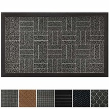 GRIP MASTER Durable, Tough All-Natural Rubber Doormats, 29x17 Size, Wate... - $16.73