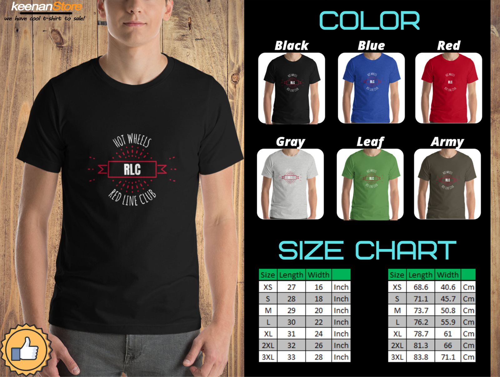 Primary image for Hot Wheels RLC - Red Line Club - High Quality Clothing T-Shirts