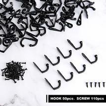100 Pieces Double Hole Wall Mounted Single Hook Robe Hooks Coat Hooks and 210 Pi image 4