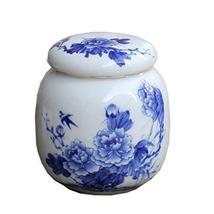 PANDA SUPERSTORE Peony Blue & White Ceramic Tea Storage Box 4OZ - $29.64