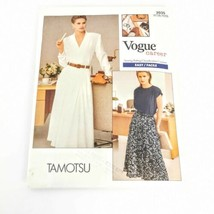 Vogue 2035 Tamotsu Career Top Skirt Size 8 10 12 Sewing Pattern Vintage ... - $18.55