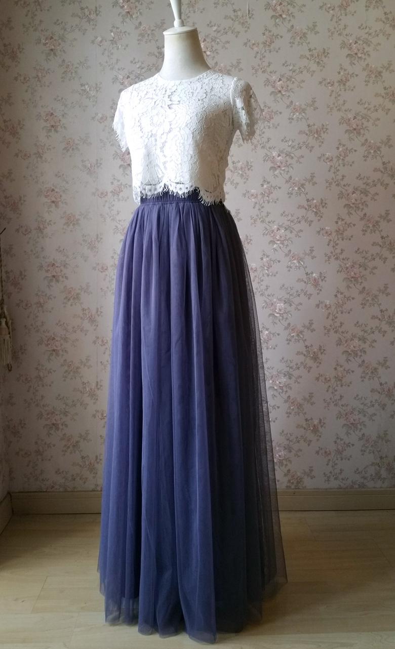 Maxi tulle skirt purple 780 2