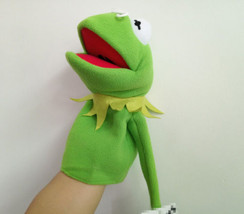 The Muppet Show Kermit the Frog Plush Puppet Finger Toy Green Frog Cospl... - $13.99