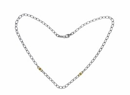 """▌JUDITH RIPKA 925 Sterling Silver 18K Gold Chain Link Necklace Size 17"""" ... - $229.08"""