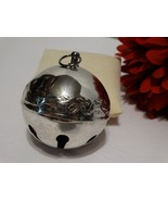 Wallace Silver Plated Sleigh Bell 1989 Magical Santa and Reindeer 19th E... - $24.74