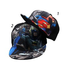 High Quality Children's Hip-hop  Elegant Art Wonderful Baseball Cap Superman Bat