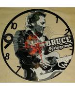 VINYL PLANET Wall Clock BRUCE SPRINGSTEEN Home Record Unique Decor upcyc... - $33.50
