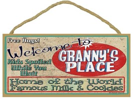 Welcome to Granny's Home of the World Famous Milk Cookies Grandmother Sign - $12.86