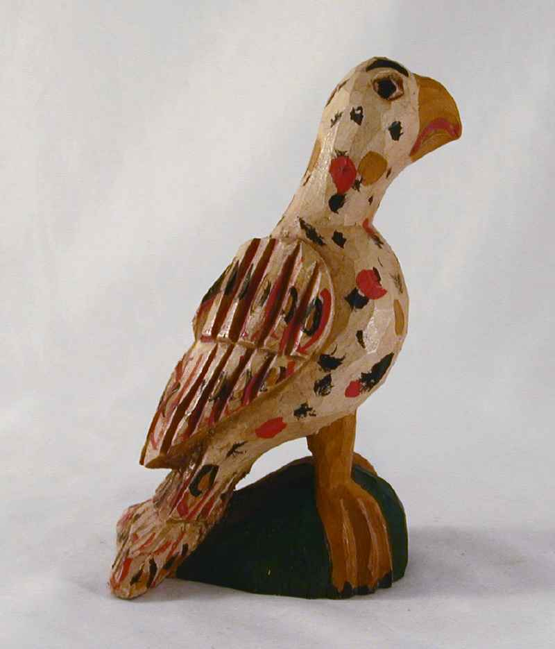 1996 Schimmel Like Carved Wood Polychrome Painted Eaglet Jonathan Bastian