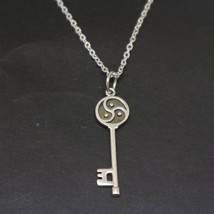 Silver BDSM Key Necklace Pendant image 1