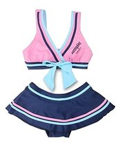 Beautiful Baby Girl Swimsuit Lovely Bikini Toddler Swimsuit Pink & Blue (1~3Y)
