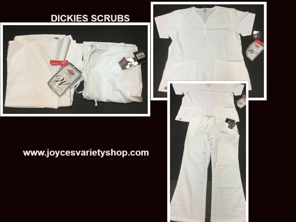 Dickies Relaxed Fit Soft Touch Medical Uniforms Scrubs SZ L Top & Bottom Set