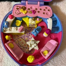 Vintage Polly Pocket Bluebird 1995 Super Star Happenin' Hair Heart Compact Toy - $44.99