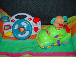 Fisher Price Laugh & Learn Puppy's Musical Learning Car & Steeling Wheel... - $10.50