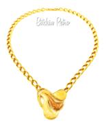 Napier Vintage Sahara Sands Necklace Enamel Pendant Published Book Piece - $59.00