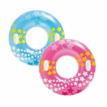 "2 Pack Intex Stargaze Tube 36"" Large Swim Ring Float Pool Beach Toy w/ H... - $19.79"