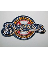 """Milwaukee Brewers~Embroidered PATCH~3 1/2"""" x 2 1/8""""~Iron Sew On~MLB~Ship... - $4.55"""