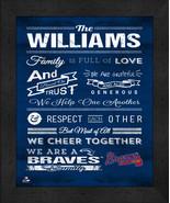 """Atlanta Braves """"Family Cheer"""" 13 x 16 Framed Print - $39.95"""