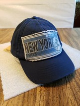AMERICAN NEEDLE NY YANKEES STRAPBACK HAT Distressed Patch Bronx NY 1903 ... - $23.64