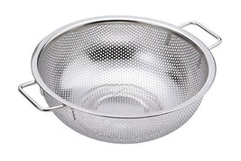 "Stopia Kitchen Punching Basket Hole Basket 12"" with Handles Storage Vegetables F"
