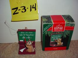 Hallmark Teacher Keepsake Ornament 1990 - $9.99