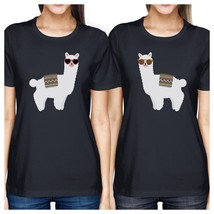 Llamas With Sunglasses BFF Matching Navy Shirts - $30.99+