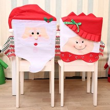 Mr Mrs Santa Claus Christmas Chair Covers Featuring Cute Chairs Back Seat Slip - $22.09