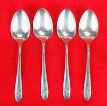 "4X Teaspoons Oneida Queen Bess II Silverplate 1946 Tudor Flatware 6"" Tea... - $18.81"