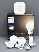Philips 455287 HUE White LED Dimmable Smart Bulb Starter Kit - 2 BULBS + Bridge - $35.99
