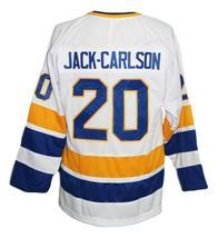 Jack-Carlson Minnesota Fighting Saints Retro Hockey Jersey White Any Size image 5