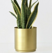 Large Brass Metal Planter Modern Indoor/Outdoor Flower Plant Pot in 4 Sizes - $49.50+
