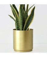 Large Brass Metal Planter Modern Indoor/Outdoor Flower Plant Pot in 4 Sizes - $66.83 CAD+
