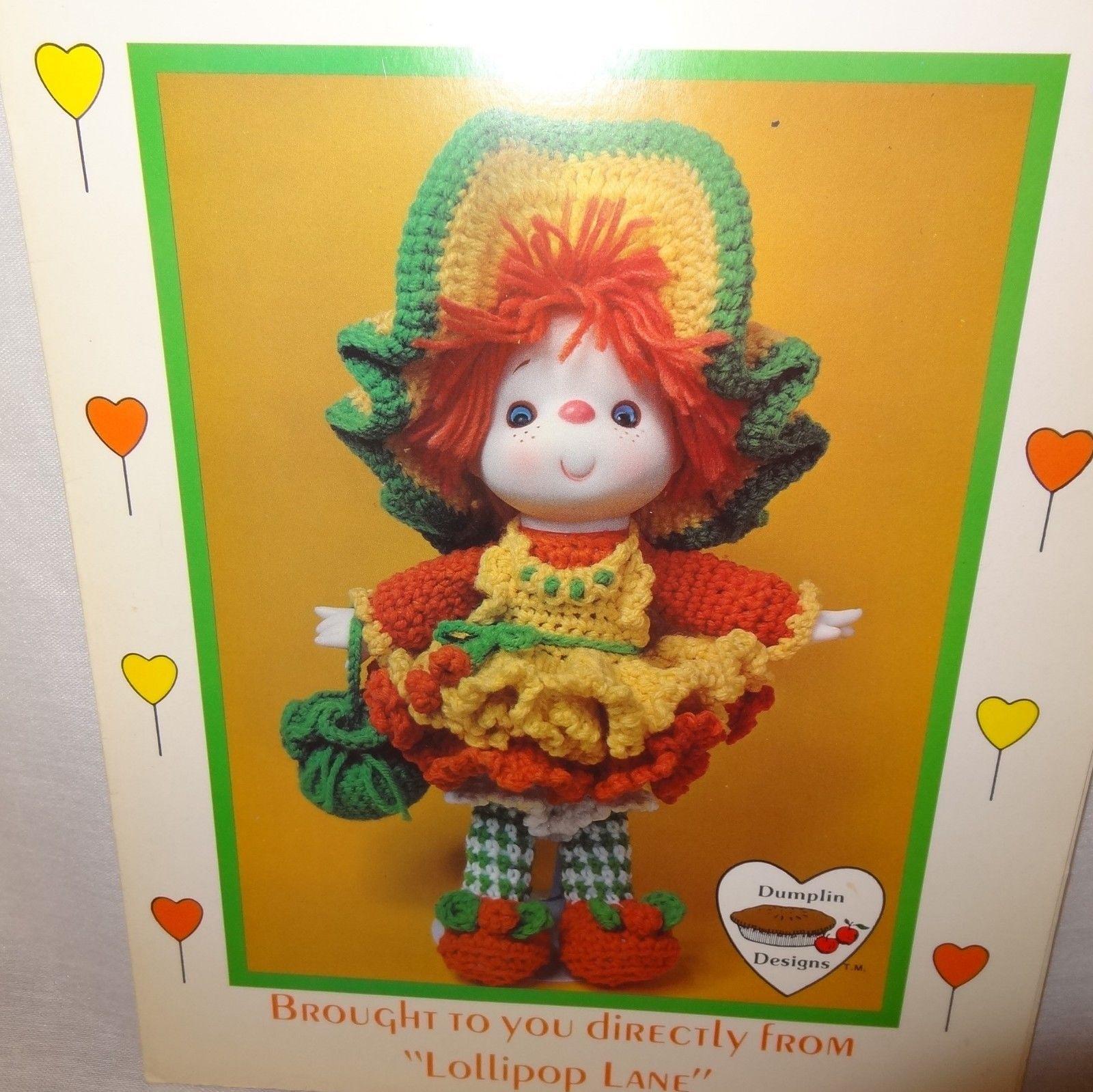 Lollipop Lane doll crochet pattern leaflet instructions USED Cherries Jubilee