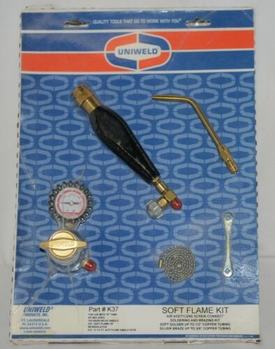 Uniweld K37 Soft Flame Kit Quality Tools Hose Included Blister Wrapped Package