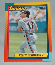 1990 Topps #39T Keith Hernández Cleveland Indios Béisbol Rookie RC Tarje... - $8.32