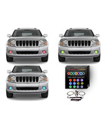 LED Fog Light Halo Ring RGB Multi-Color Kit for Jeep Grand Cherokee 05-10 - $68.61