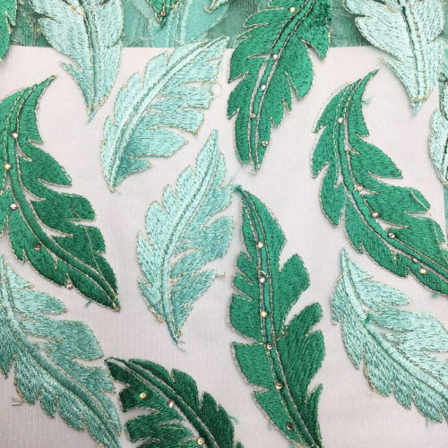 Primary image for Turquoise Green African French Tulle Embroidery Lace Fabric 5 Yard Nigerian Lace
