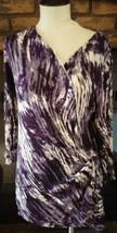 Relativity Womens Multi Color Animal Print Shirt Blouse Top Size Large - $13.99