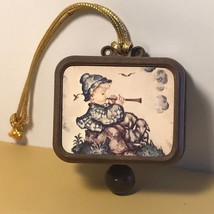 MI HUMMEL MUSIC BOX WEST GERMANY W ORIGINAL COLLECTIBLE BOY FLUTE HILLTO... - $34.65