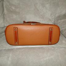 Dooney & Bourke Pebble Leather Zip Zip Satchel CARAMEL image 5
