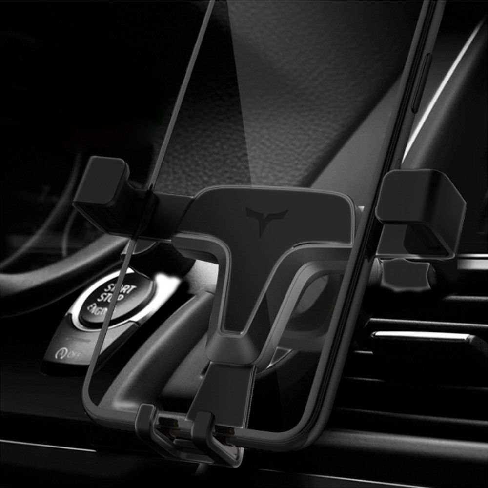 BLACK Gravity Sensing Universal Smartphone Car Air Vent Mount Holder iPhone