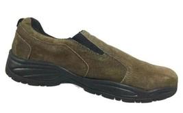 Croft & Barrow Mens Loafers Size 8 M Suede Gunsmoke Brown Slip On Casual... - $29.27