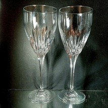 2 (Two) MIKASA DYNASTY Heavy Cut Lead Crystal Water Goblets Glasses DISC... - $23.74