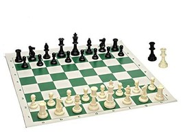 Best Value Tournament Chess Set - 90% Plastic Filled Chess Pieces and Gr... - $20.08