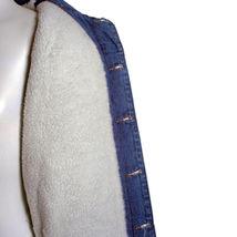 Junior Kids Boy's Premium Button Up Denim Fur Lined Trucker Sherpa Jean Jacket image 7