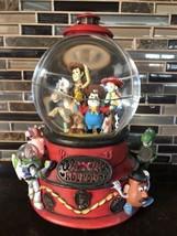 Disney Toy Story 2 Woody's Roundup Snow Globe Snow Dome Music Box - $53.46