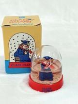 Enesco Class Clown Snowglobe Vintage 1987 Waterdome Plastic Snowdome in Box - $18.78