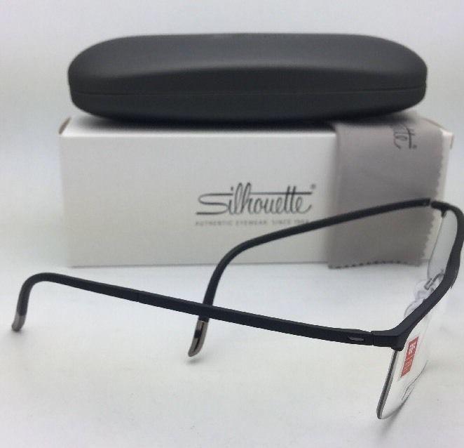 87267a5bda6 New SILHOUETTE Eyeglasses SPX 2904 60 6051 54-18 Matte Black   Gunmetal  Frame