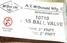 A Y McDonald 10710 Gas Ball Valve 2 Inch 4901 115 Non Potable Use image 5